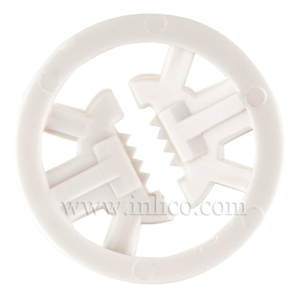INTERNAL CORD GRIP FOR B22/E27 - WHITE MAXIMUM DIAMETER 22MM