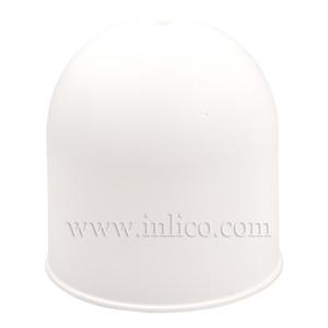 DOMED PLASTIC CEILING ROSE WHITE