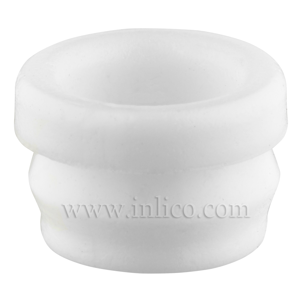 GROMMET WHITE - 10.6MM OD ( NOT INC LIP), 12.2mm  (INC LIP ) 7.0MM ID 6.5mm HEIGHT