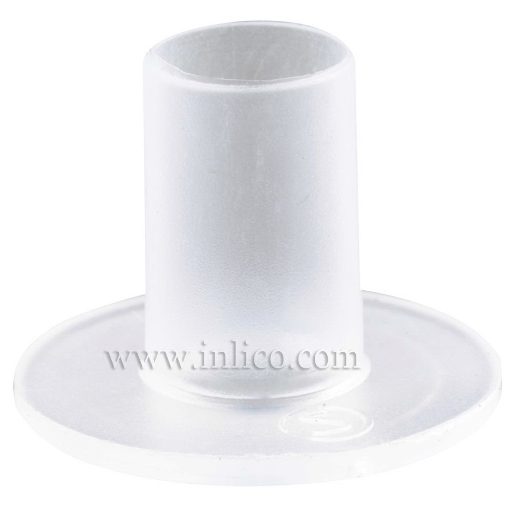 CLEAR CABLE ISOLATOR FOR E27/B22 L/HOLDR 25MM OD 11MM. LONG. TUBE ID 5.8MM