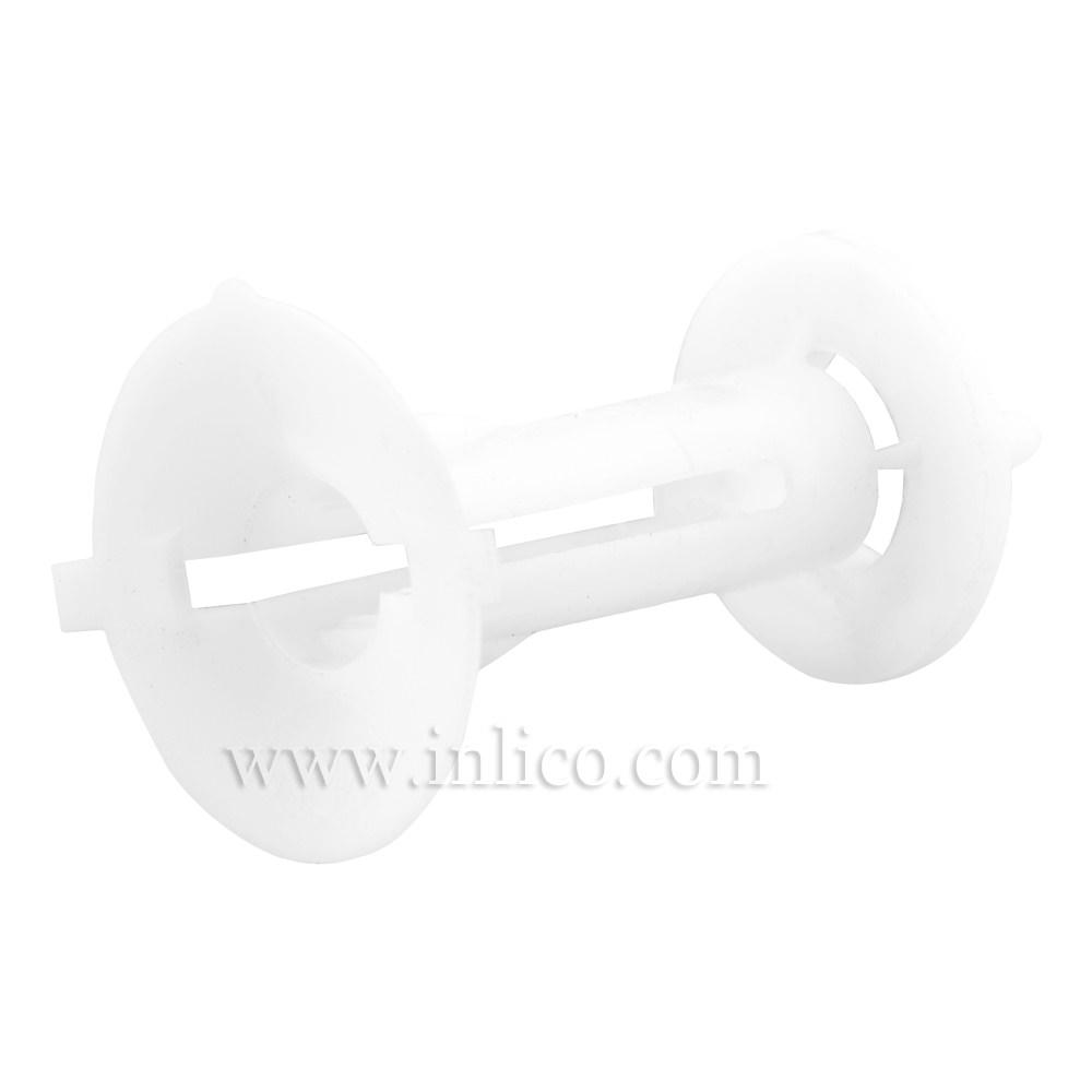 ISOLATOR CORD GRIP FOR E14/B15 L/HOLDER 17MM OD X 21.5MM LONG SHANK PLASTIC WHITE