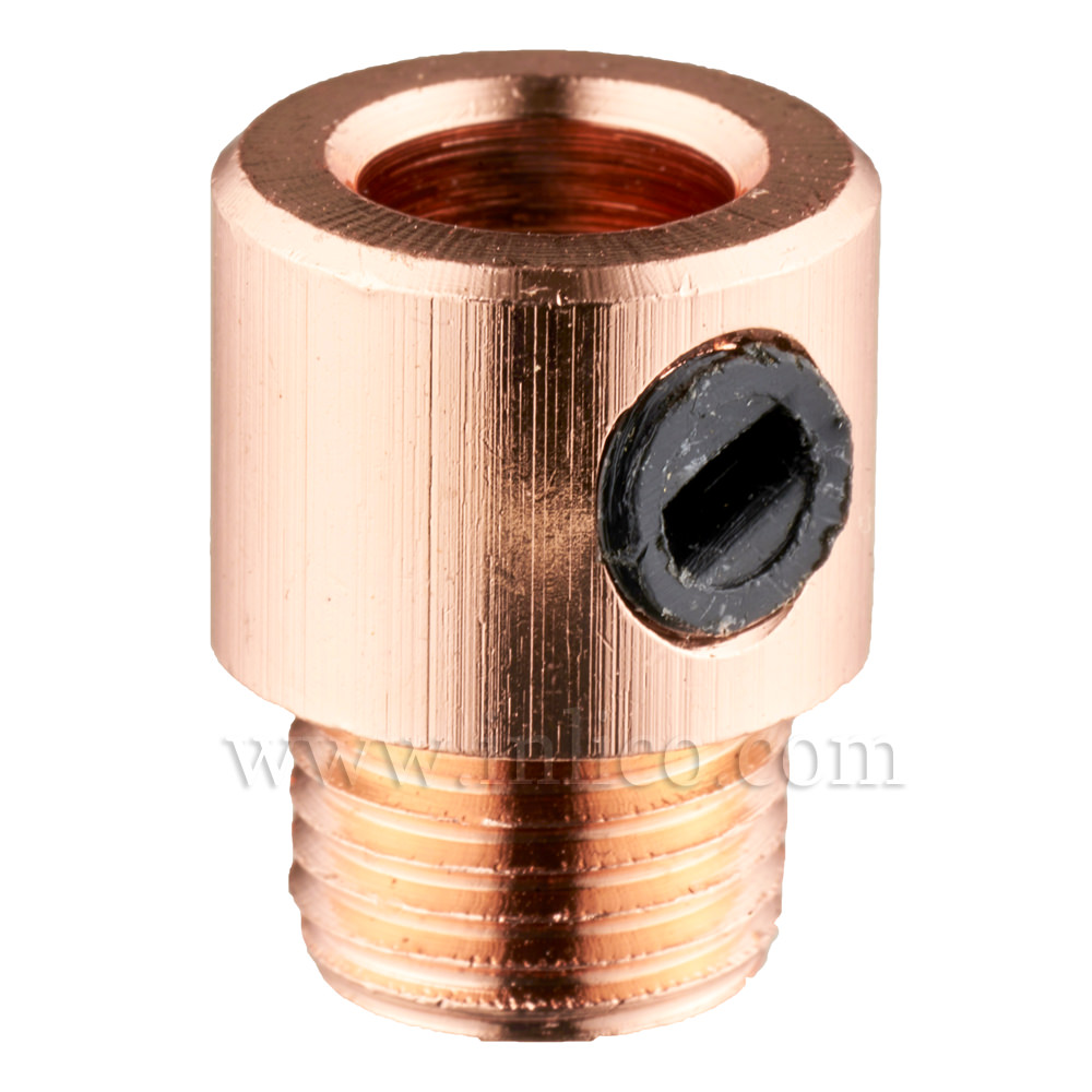 10MM CORDGRIP MALE COPPER PLATED WITH BLACK PLASTIC GRUBSCREW