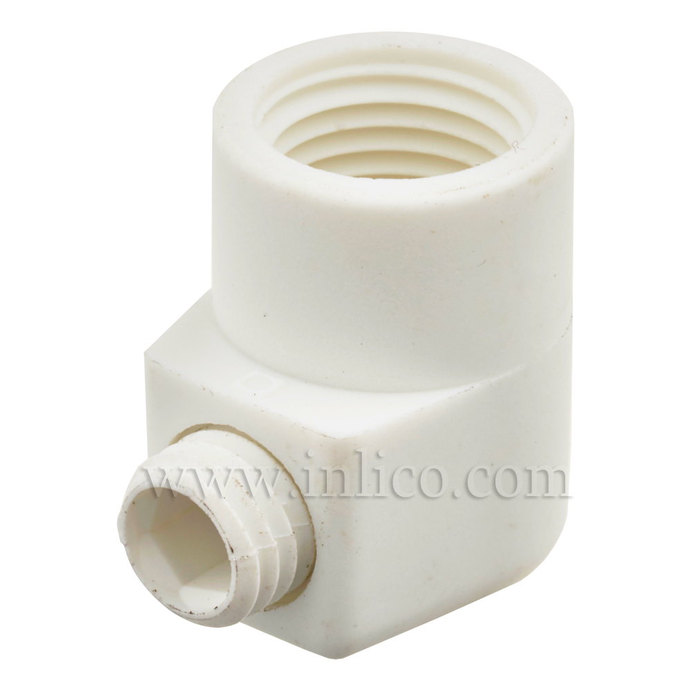 10MM S/LOCK C/GRIP FEMALE WHITE 18MM LONG x 16MM HIGH M7 x 1 GRUB SCREW