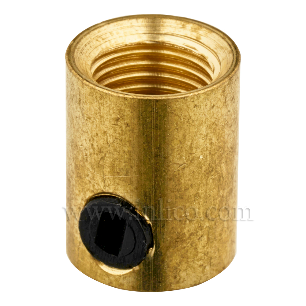 10MM C/GRIP FEMALE BRASS WITH BLACK PLASTIC GRUBSCREW