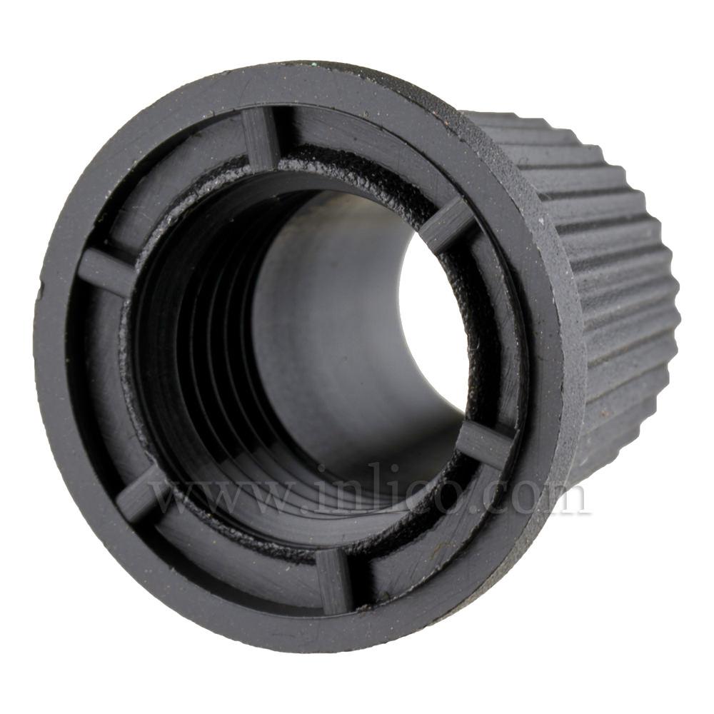 SHORT CAP FOR 2-PART LOCKING CORDGRIP BLACK