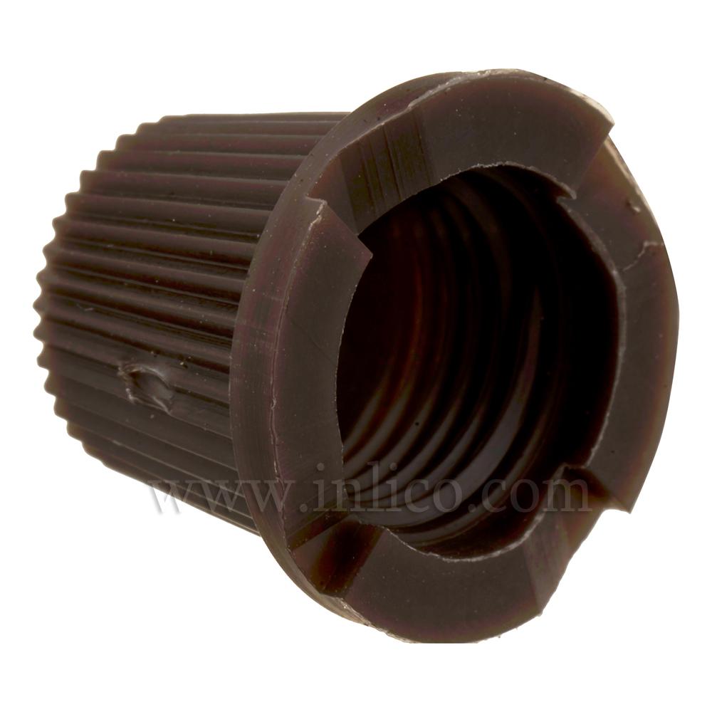 SHORT CAP FOR 2-PART LOCKING CORDGRIP BROWN