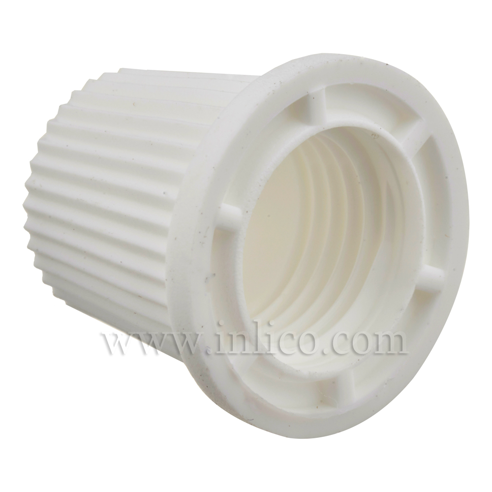 SHORT CAP FOR 2-PART LOCKING CORDGRIP WHITE