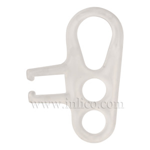 3 HOLE CORD GRIP WITH SIDE GRIPS - CLEAR