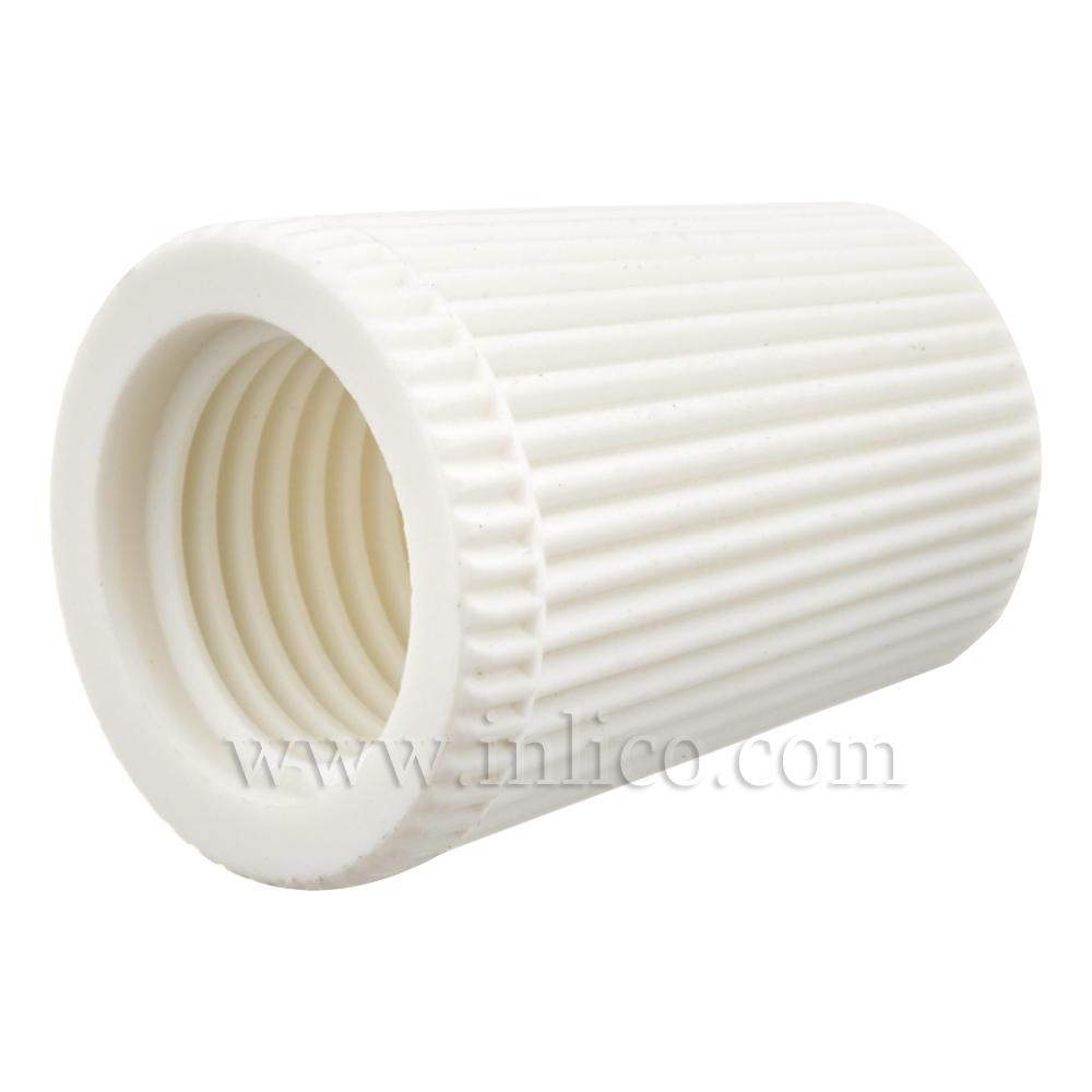 LONG CAP FOR 2-PART LOCKING CORDGRIP WHITE