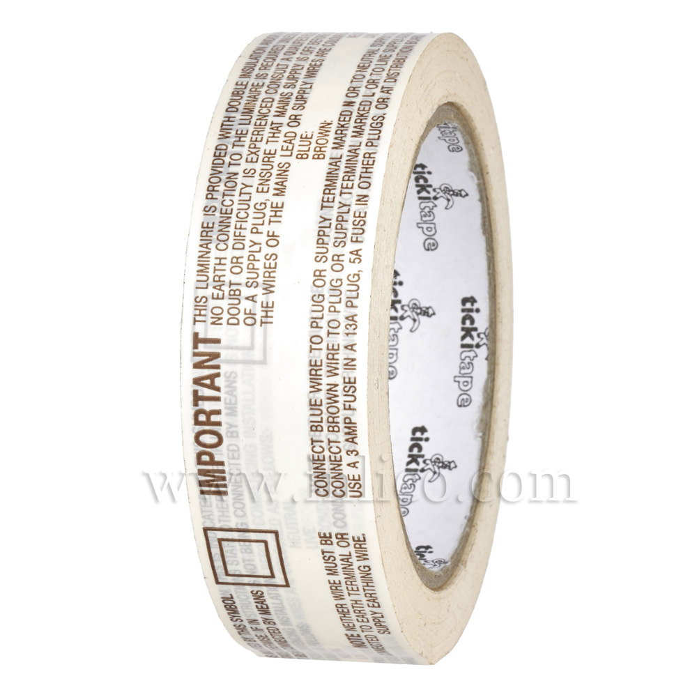 2 CORE WIRING INSTRUCTION TAPE 440 LABELS PER ROLL