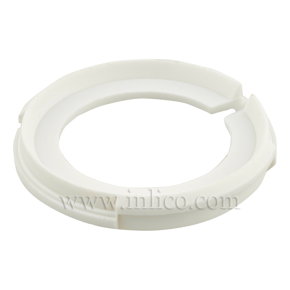 LAMPSHADE ADAPTOR RING WHITE PLASTIC - FROM E27 TO B22/E14