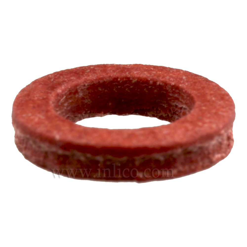 RED FIBRE WASHER ID 5.2 x 8 DIAM. x 1.6mm THICK