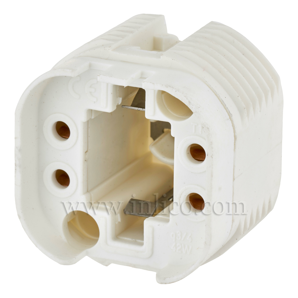 G24 Q2 LOW ENERGY  LH WHITE FOR 18 WATT  4-PIN COMPACT FLUORESCENT LAMP BOTTOM FIXING OR WITH CLICK FIT CAP FOR 10MM ENTRY