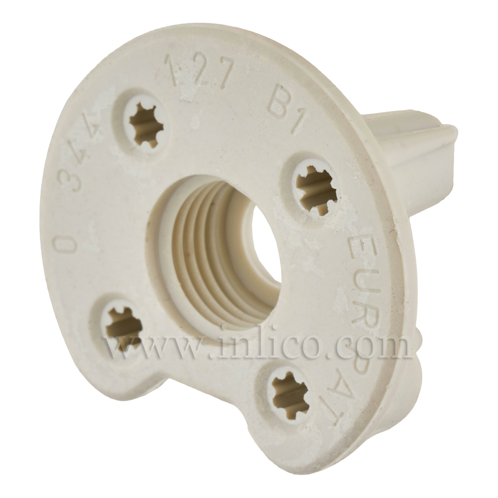M10x1 PLASTIC ADAPTOR FOR GU10/GZ10 OAD 27.6MM THICKNESS 10MM