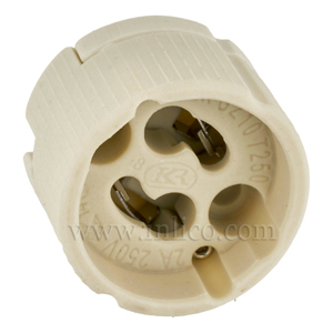 GZ10 HALOGEN L/HOLDER FOR 240V HALOGEN LAMP WITH PUSH FIT TERMINALS T250  ENEC14 INTERTEK APPROVED