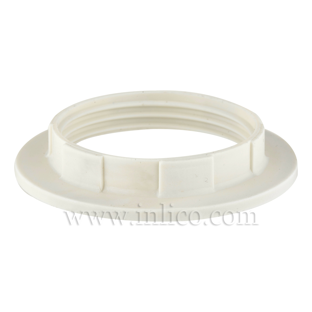 WHITE WIDE LIP SHADE RING E27/B22 58mm x 10mm