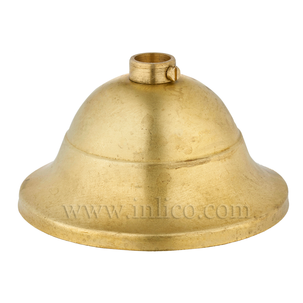 CEILING CUP RAW BRASS 110MM X 56MM 10.5MM CENTRE HOLE LOCKING RING AND SCREW