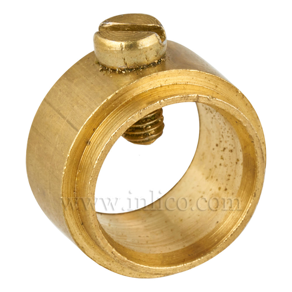BRASS STEPPED COLLAR AND GRUB SCREW 10.5MM ID 14MM OD8MM HEIGHT