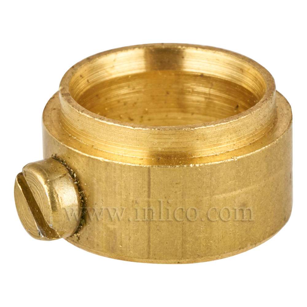 BRASS STEPPED COLLAR WITH GRUB SCREW 13.5MM ID 17MM OD 8MM HEIGHT