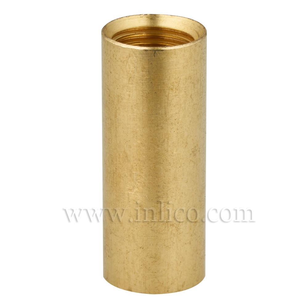 BRASS COUPLER 30MM LONG/12MM DIAMETER M10x1 INTERNAL THREAD