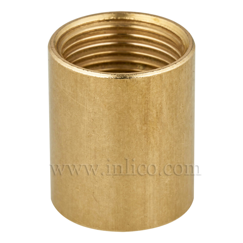 BRASS BARREL REDUCER 10 X 13MM. FEMALE ENTRY 18mm HIGH