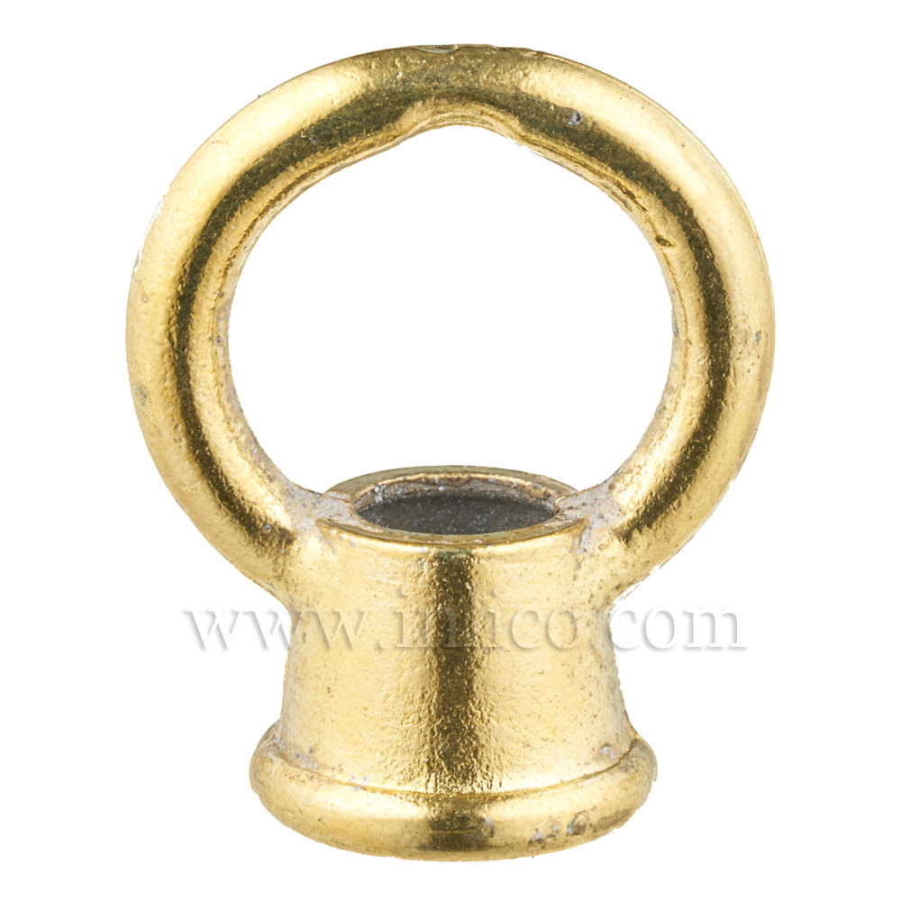 M10X1 FEMALE BRASS PLATED MAZAK LOOP 30MM DROP X 23MM