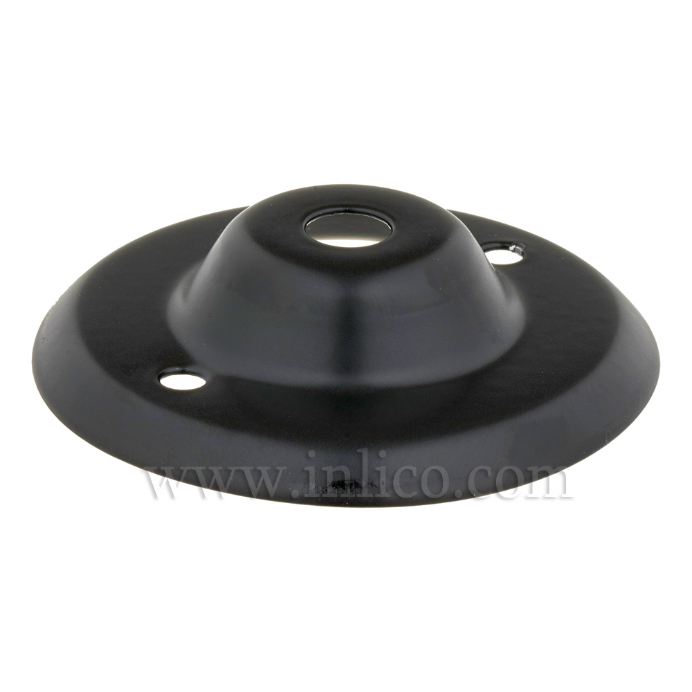 "10MM CEILING PLATE BLACK POWDER COATED FINISH WITH 2"" BESA FIXING HOLES"