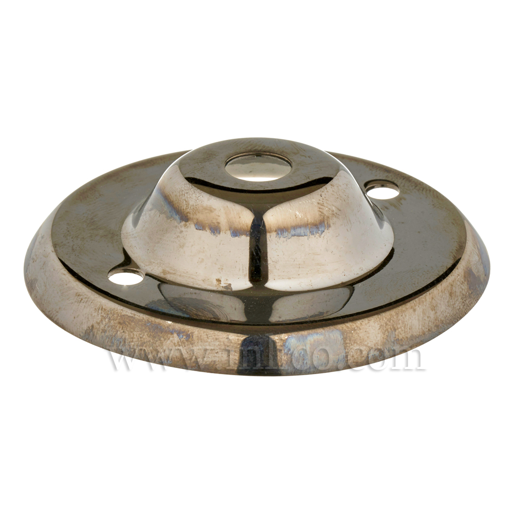 "13MM CEILING PLATE BLACK NICKEL PLATED FINISH WITH 2"" BESA FIXING HOLES"