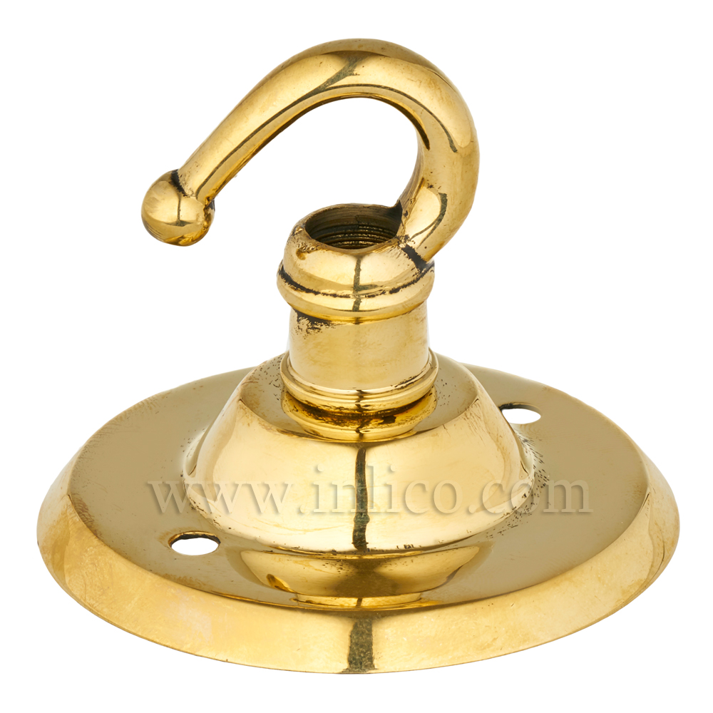 POLISHED BRASS CEILING HOOK PLATE