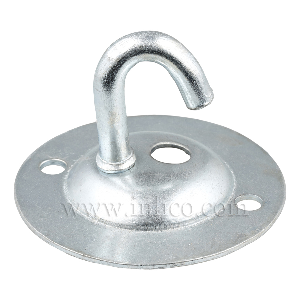 HOOK AND PLATE BRIGHT ZINC PLATED INDUSTRIAL STYLE