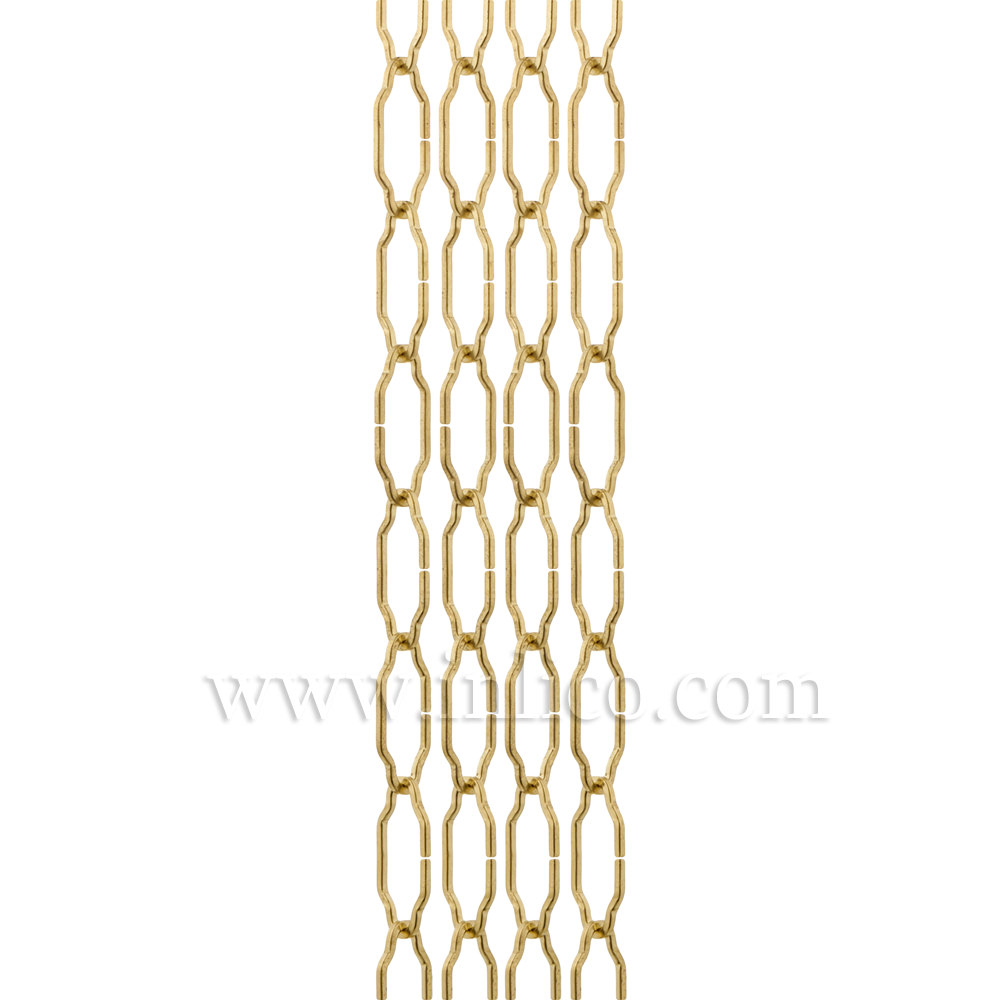 BRASS PLATED GOTHIC CHAIN - LARGE  4mm WIRE  45mm x 24mm link (internal)