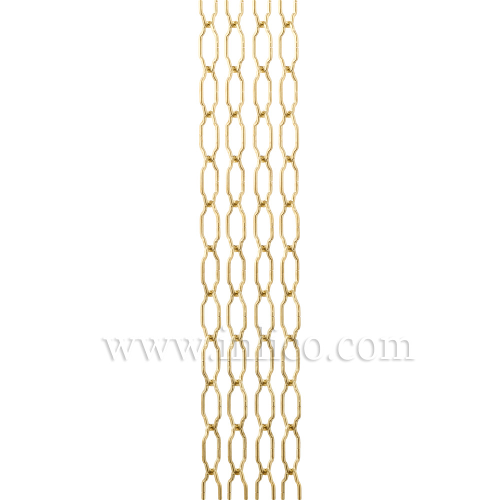 BRASS PLATED GOTHIC CHAIN - SMALL 1.9mm WIRE  25mm x 11mm LINK ( internal)