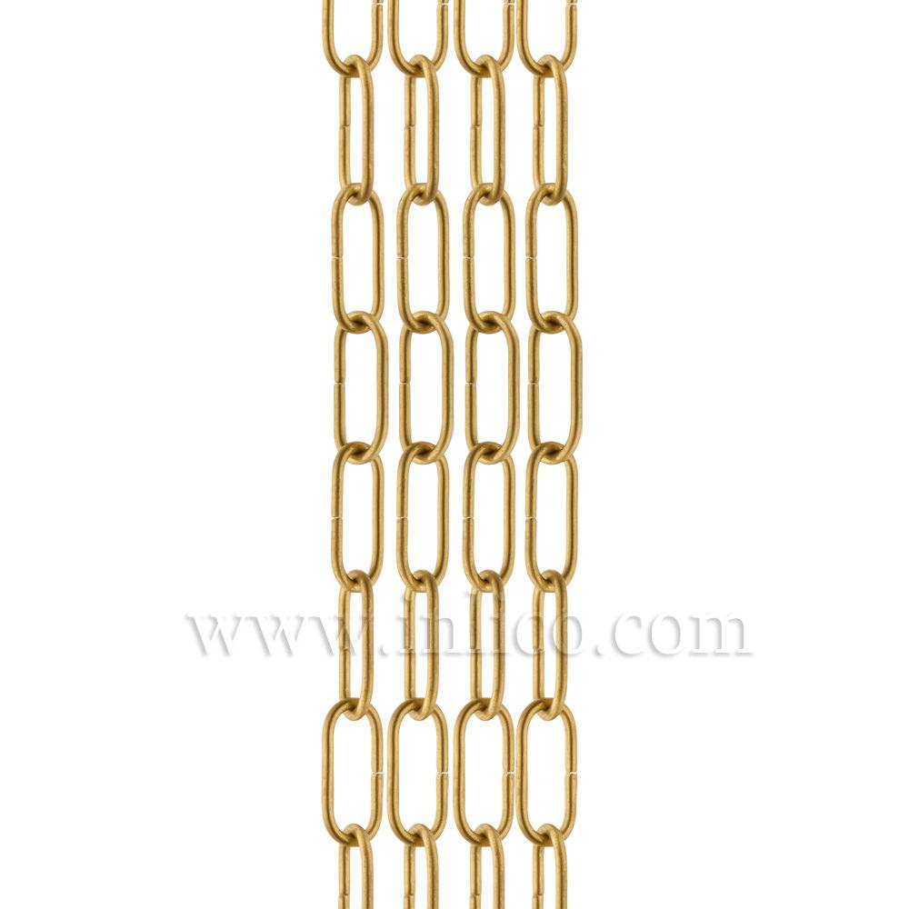 HEAVY DUTY SOLID BRASS CHAIN 4.0mm WIRE GAUGE  40mm x 14mm LINK (internal)