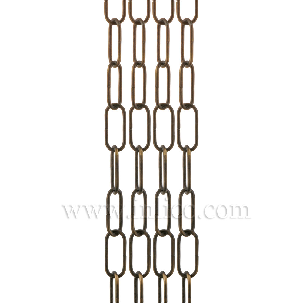 HEAVY DUTY ANTIQUE CHAIN 3.6mm WIRE GAUGE 40mm x 14mm LINK (internal)