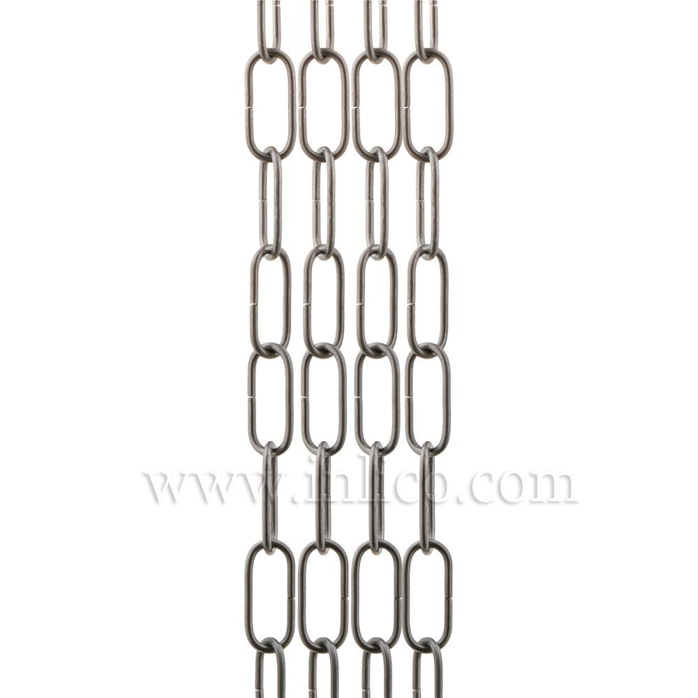HEAVY DUTY SELF COLOUR CHAIN 3.6mm WIRE GAUGE 40mm x 14mm LINK (internal)