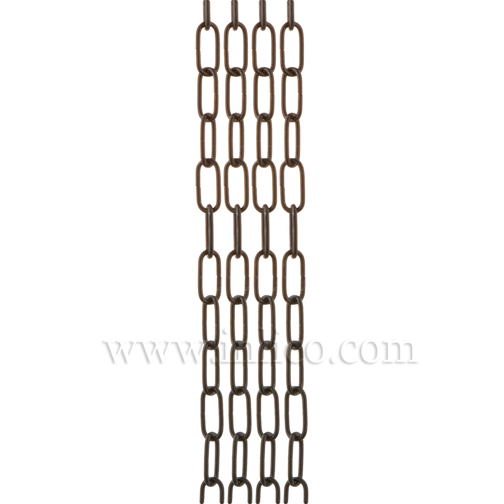 LIGHT DUTY BLACK POWDER COATED CHAIN  1.8mm WIRE 17mm x 5.6mm LINK (internal)