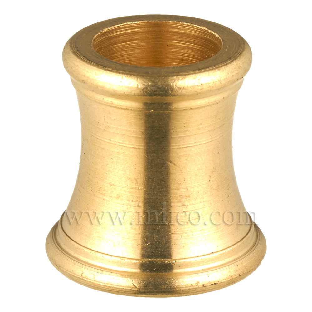 M10x1 SHAPED BRASS COUPLER 18MM OAL 18MM DIA AT BOTTOM/15MM DIA AT TOP