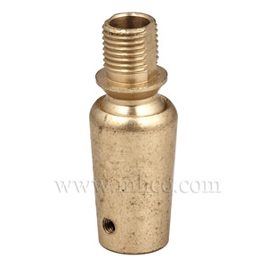 10MM M-F SWIVEL BALL JOINT RAW BRASS 16x39mm WITH M3 GRUBSCREW HOLE