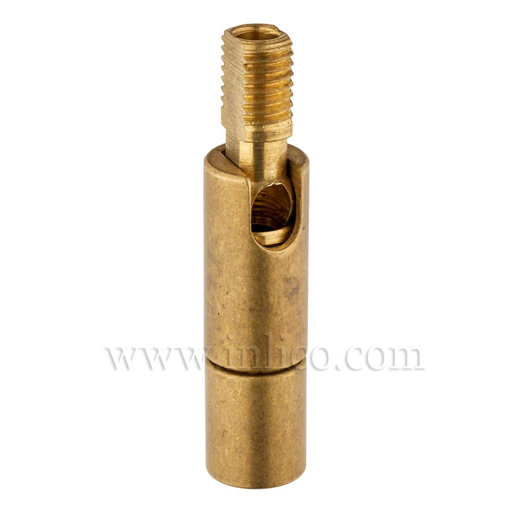 M8 M-F 90DEG KNUCKLE JOINT RAW BRASS OAL 44MM DIA 10MM  female thread depth 7mm