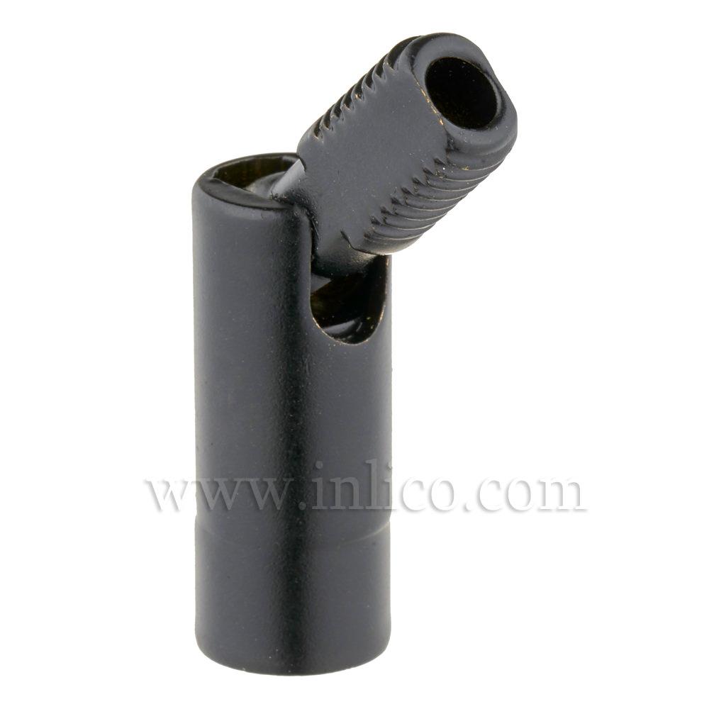M8 M - M8 F 90DEG KNUCKLE JOINT BLACK OAL 38MM DIA 10MM