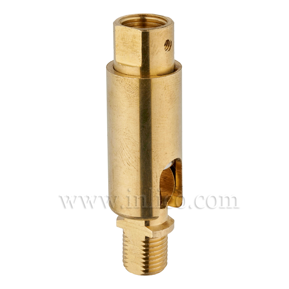 10MM M-F 90DEG KNUCKLE JOINT RAW BRASS OAL 55mm DIA 16mm