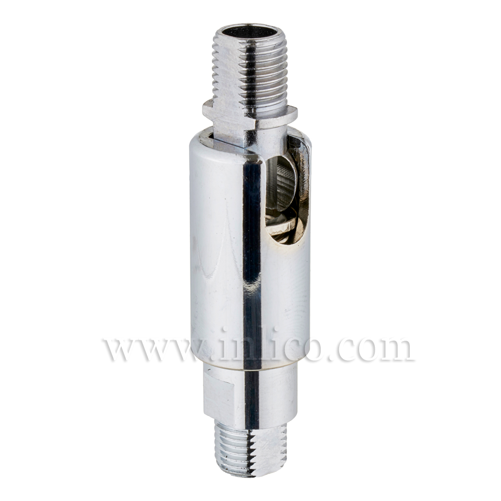 10MM MALE/MALE KNUCKLE JOINT CHROME