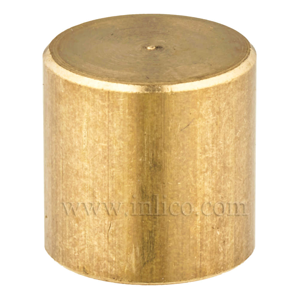 RAW BRASS CYLINDER FINIAL M10x1 13MM O/D x 13MM HEIGHT