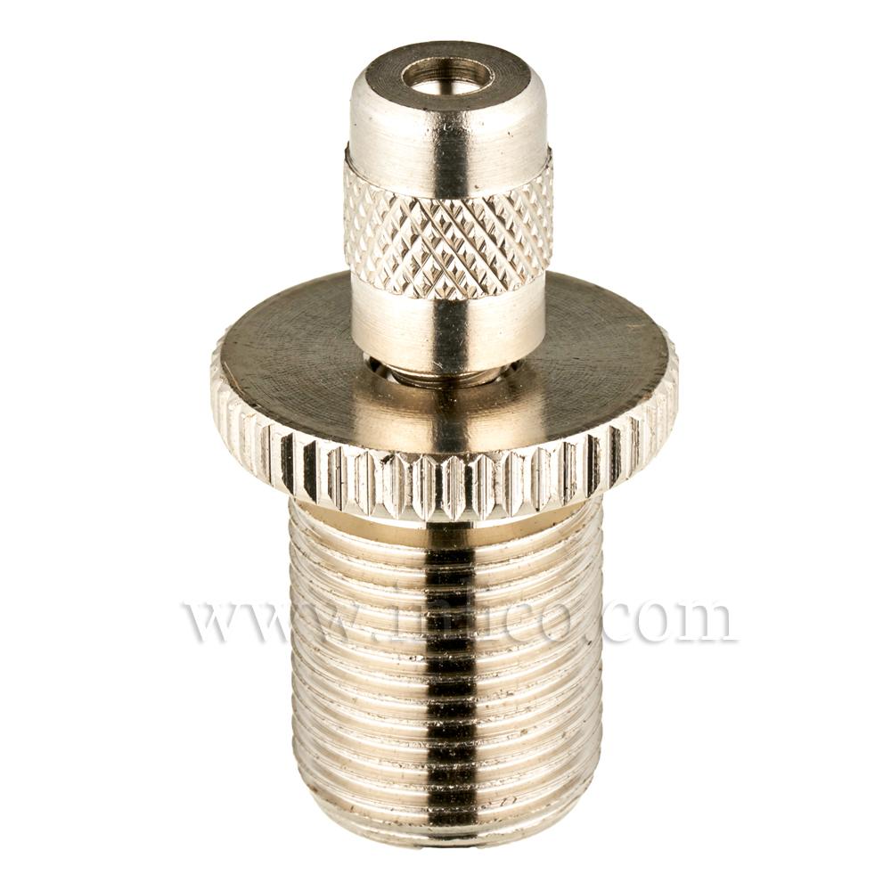 SUSPENSION CLUTCH NICKEL PLATED BRASS 19MMX 31.5MM M13X1 THREAD WITH SAFETY CAP
