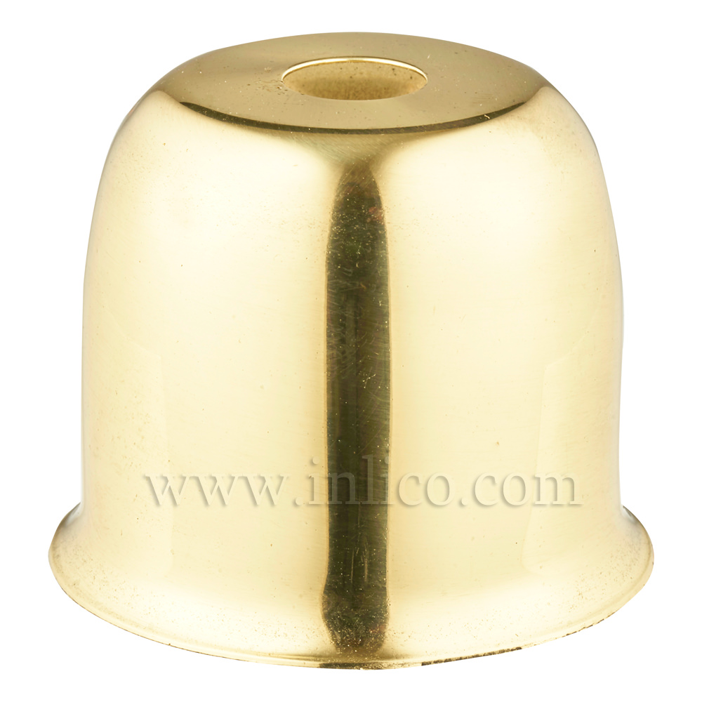 LAMP HOLDER CUP SOLID BRASS POLISHED & LAQUERED 41X38MM WITH 10.5mm CENTRE HOLE  HALF LAMPHOLDER COVER FOR E27/ES LAMPHOLDERS