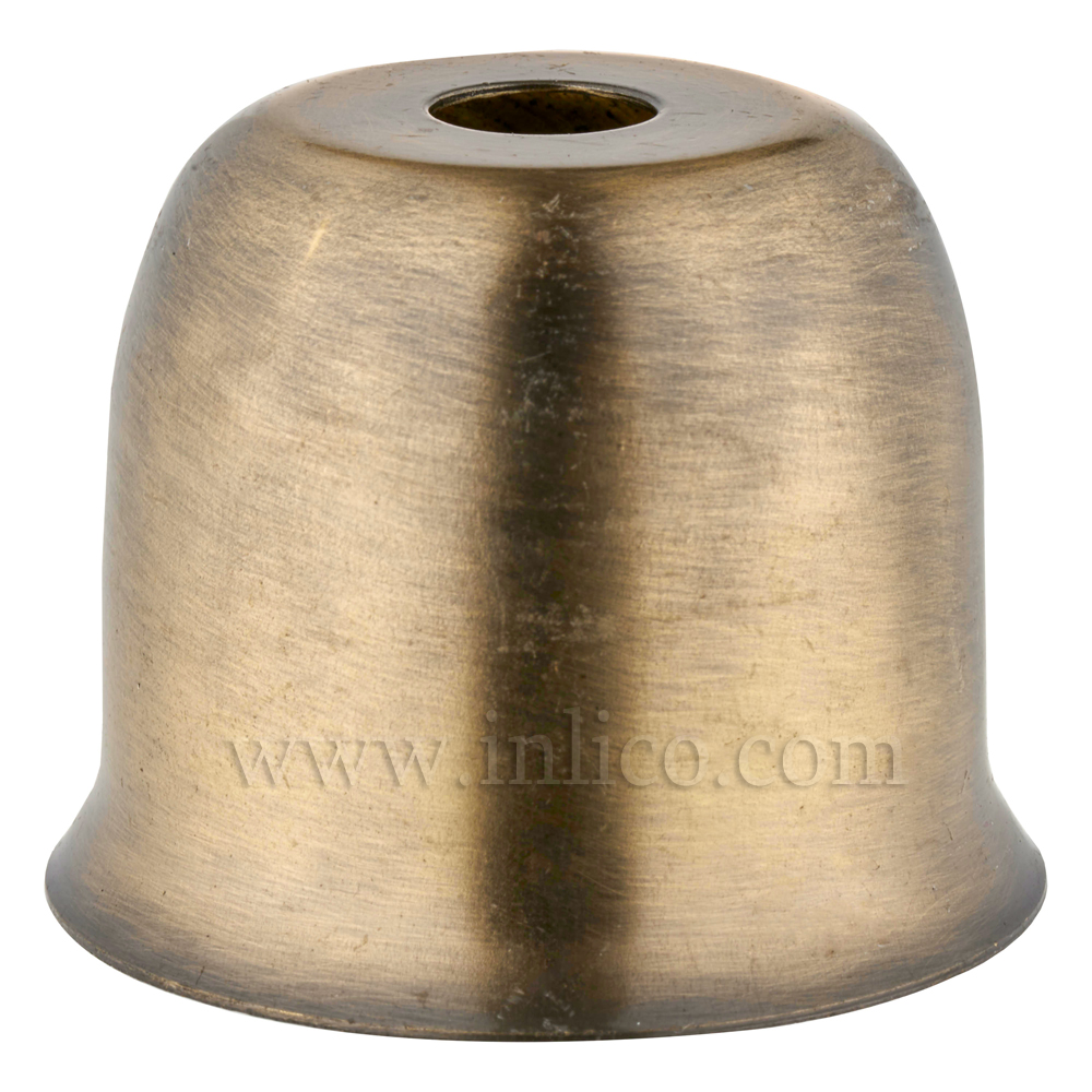 LAMPHOLDER CUP WITH ANTIQUE BRASS FINISH.  STEEL CUP 41X38MM WITH 10.5MM CENTRE HOLE HALF LAMPHOLDER COVER FOR E27/ES LAMPHOLDER