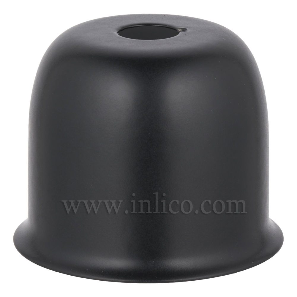 LAMPHOLDER CUP BLACK POWDER COATED STEEL CUP 41X38MM WITH 10.5MM CENTRE HOLE HALF LAMPHOLDER COVER FOR E27 ES LAMPHOLDER