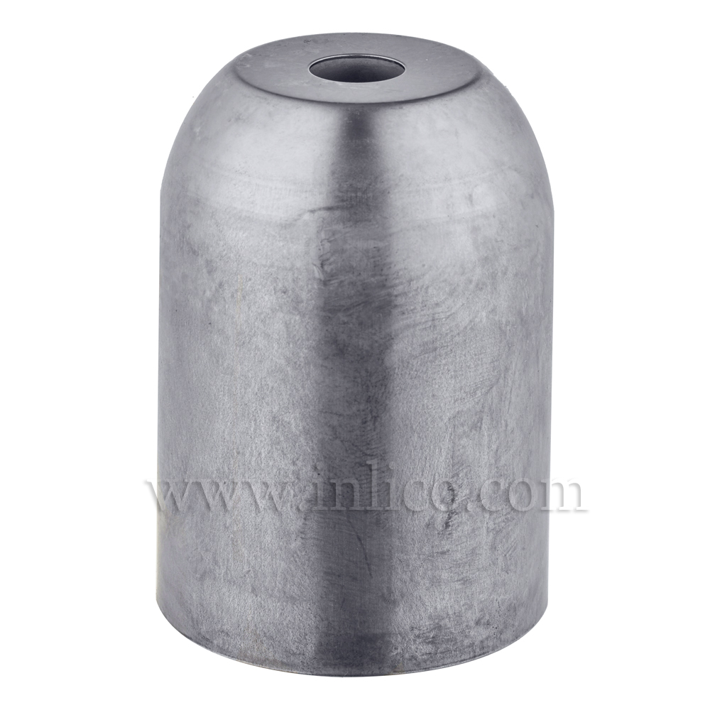 LAMPHOLDER COVER RAW STEEL D41XH60MM 10.5mm CENTRE HOLE FOR E27/ES LAMPHOLDER