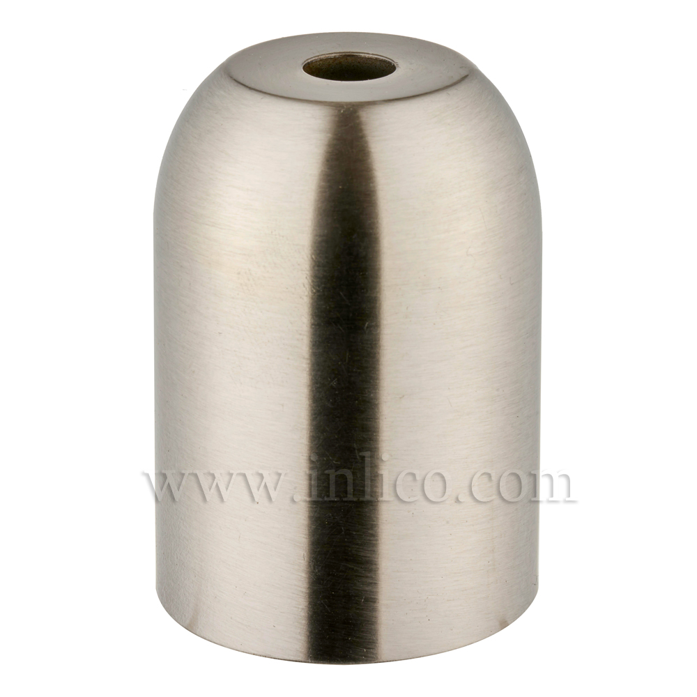 LH COVERS NICKEL PLATED RAW STEEL L/HOLDER CUP  41XH60MM FOR E27/ES LAMPHOLDER