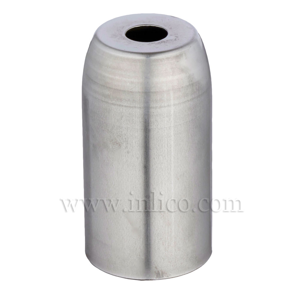 RAW STEEL L/H COVER D32XH54MM WITH 10.5MM HOLE FOR E14/SES LAMPHOLDERS